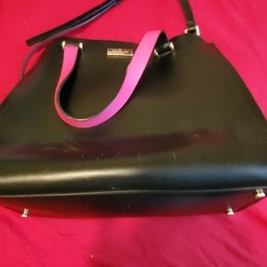 Used Kate Spade black and hot pink purse